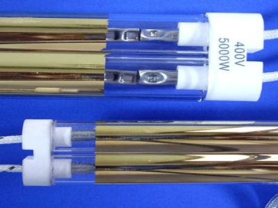 Gold Coated Twin Tube Infrared Heating Lamp